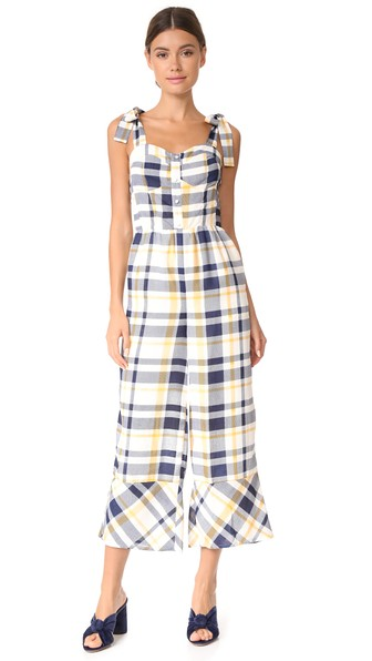 <p>Plaid Jumpsuit</p>