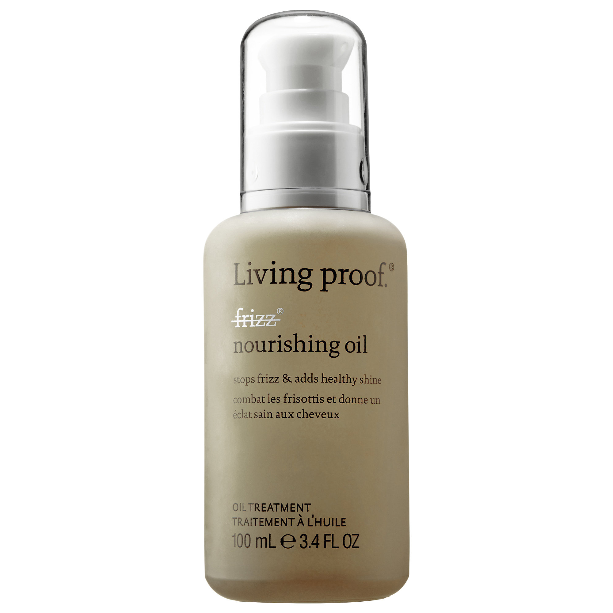 <p>For Frizzy Hair: Living Proof No Frizz Nourshing Oil </p>