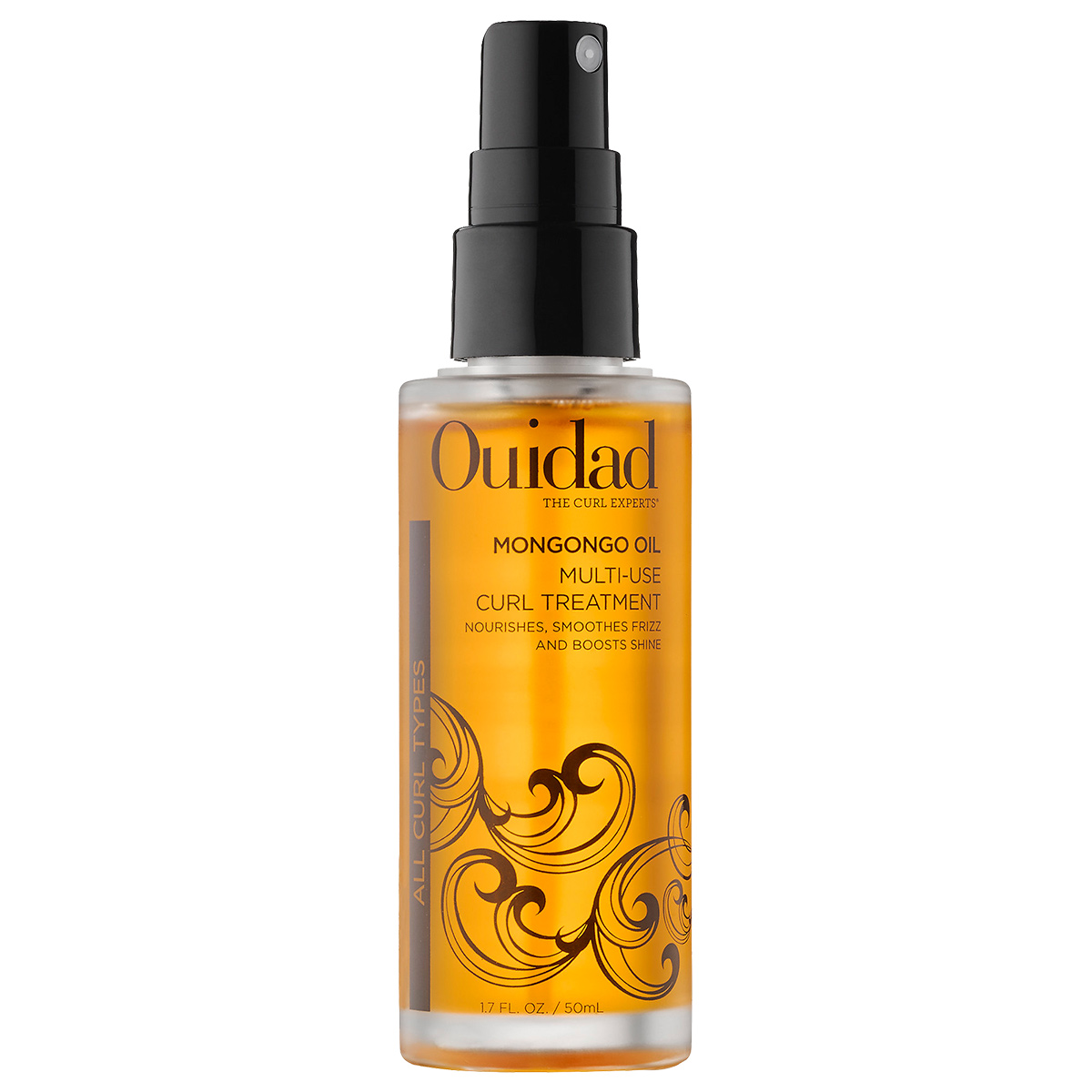 <p>For Curly Hair: Ouidad Mongongo Oil Multi-Use Curl Treatment</p>