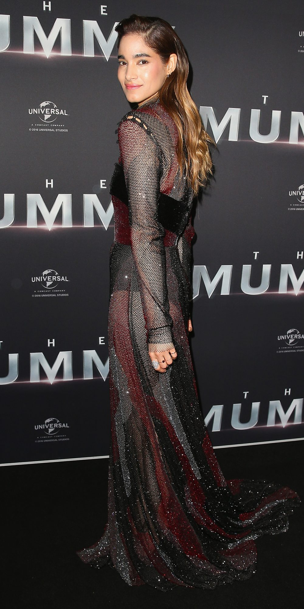 <p><strong>In Prabal Gurung at the Sydney Premiere of<em>The Mummy</em></strong></p>