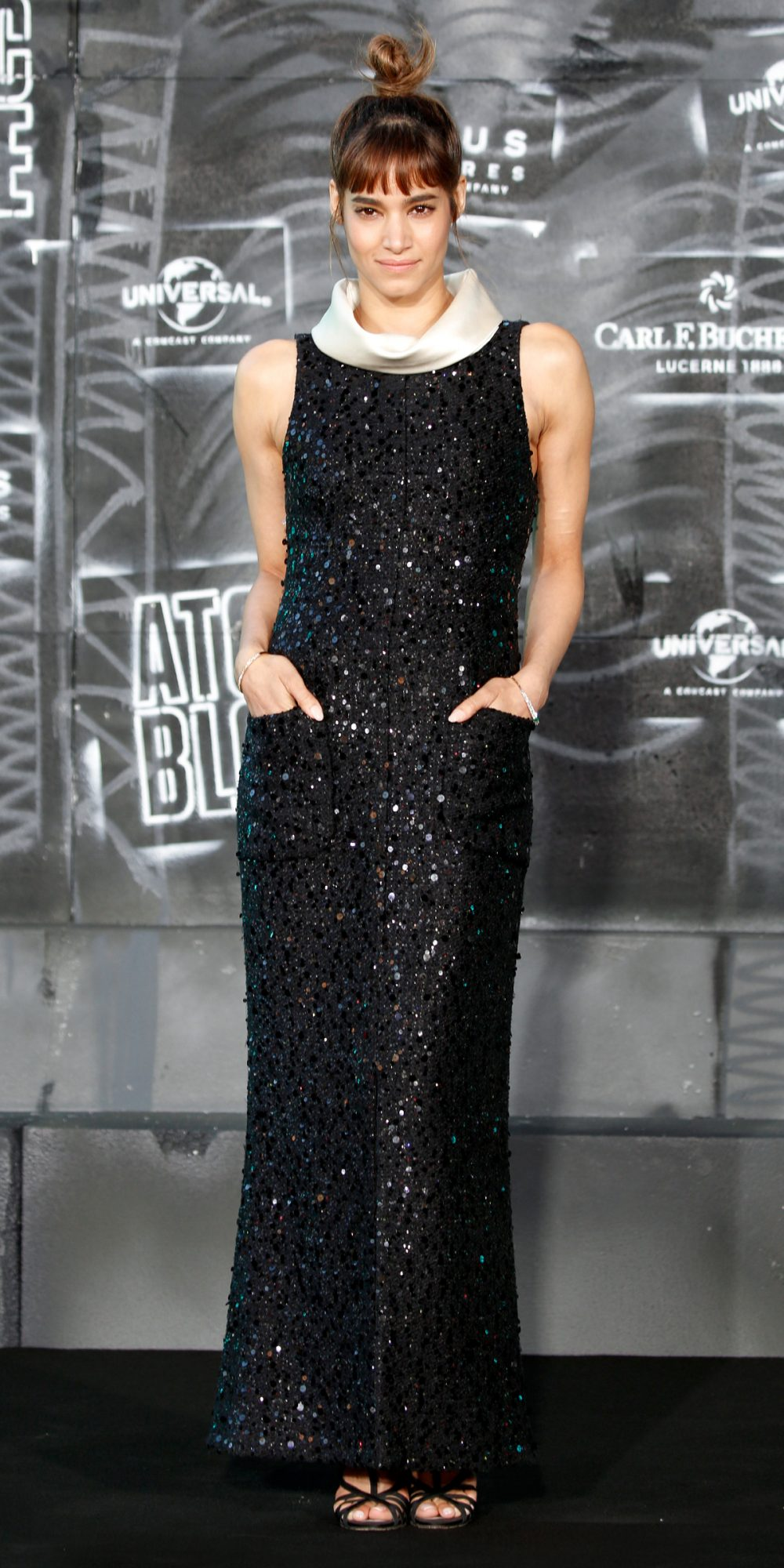 <p><strong>In Chanel at the World Premiere of <em>Atomic Blonde</em>in Berlin</strong></p>