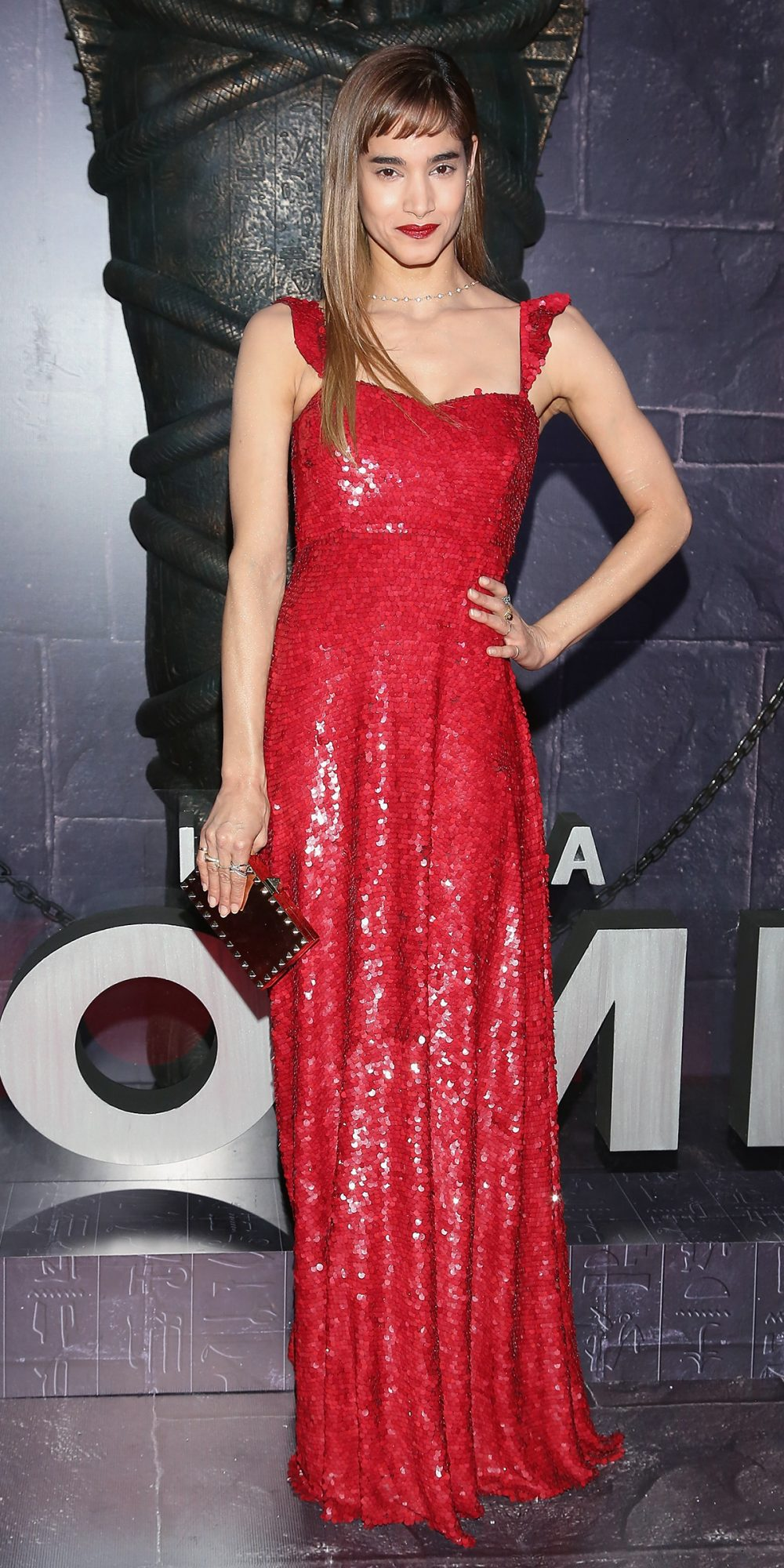 <p><strong>In Valentino at the Mexico City Premiere of<em>The Mummy</em></strong></p>