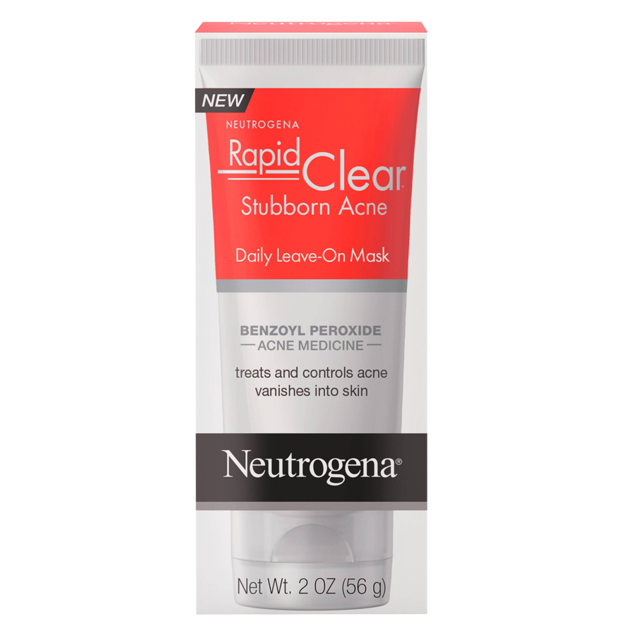 acne neutrogena face benzoyl peroxide clear rapid mask leave daily scars stubborn drugstore fading scar spots cystic masks approved dermatologist