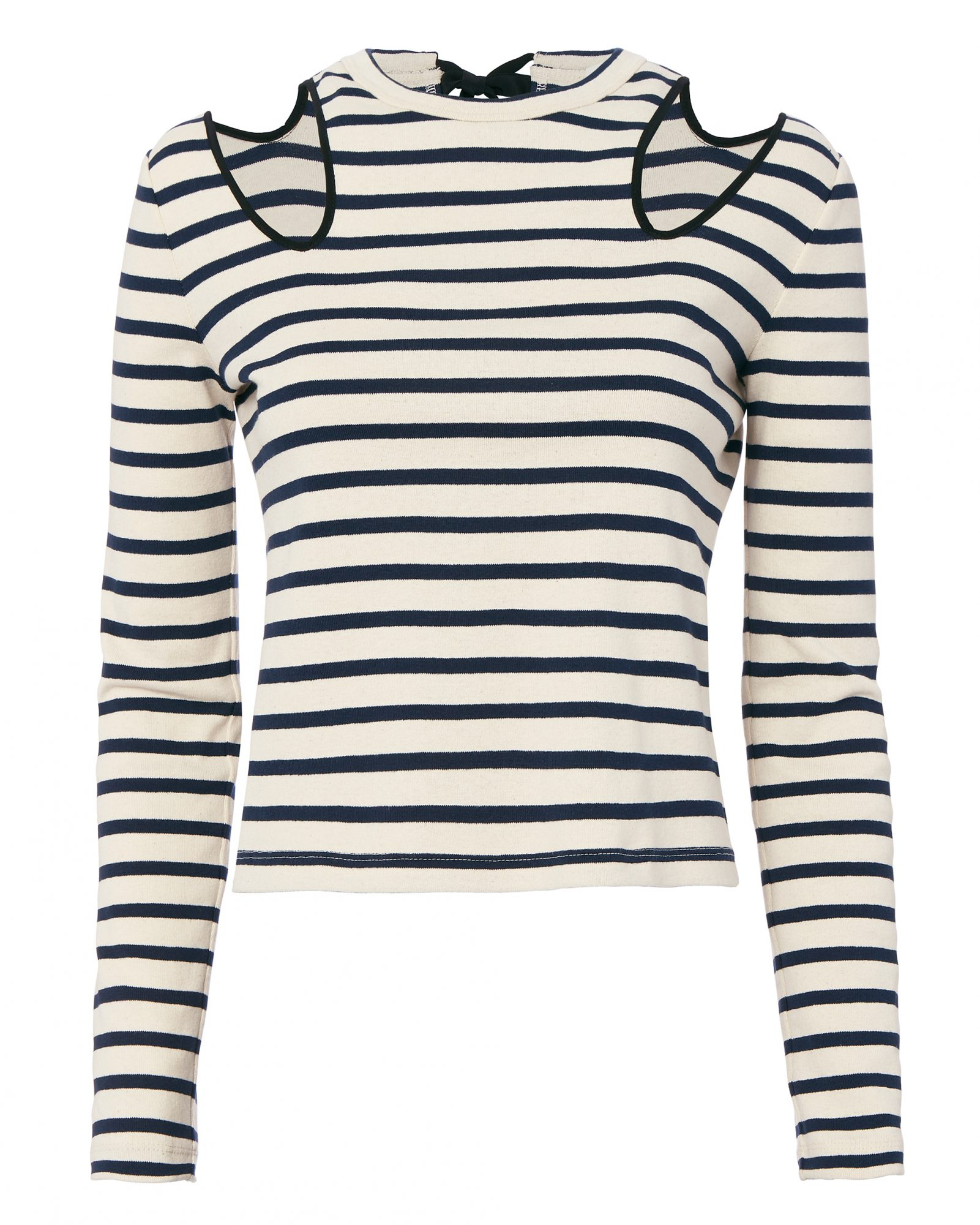 Open Shoulder Striped Top