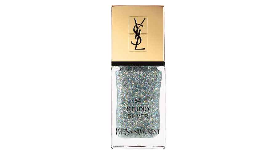 <p>Yves Saint Laurent La Laque Couture in Studio Silver </p>