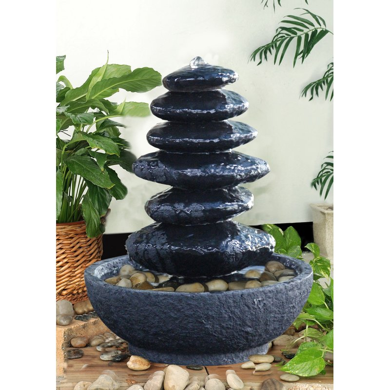 Resin Stacked Rock Fountain
