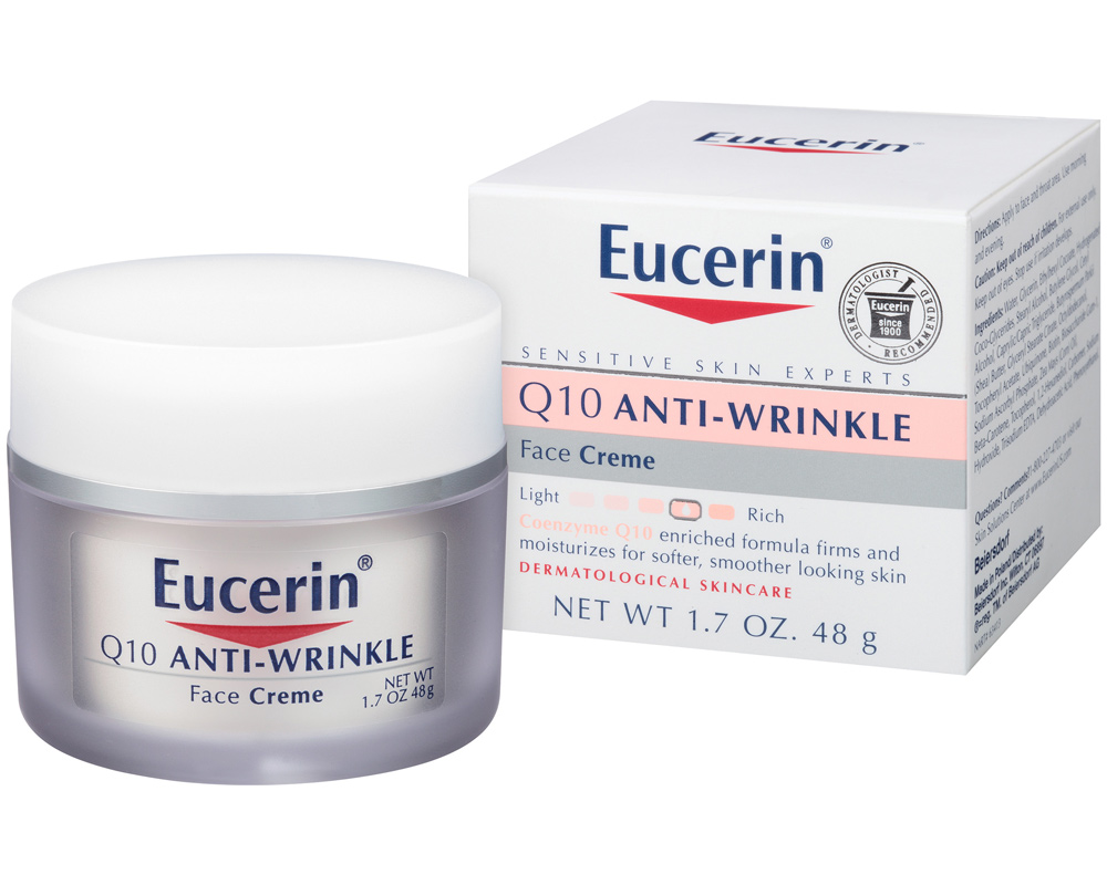 <p>Eucerin Q10 Anti-Wrinkle Face Creme </p>