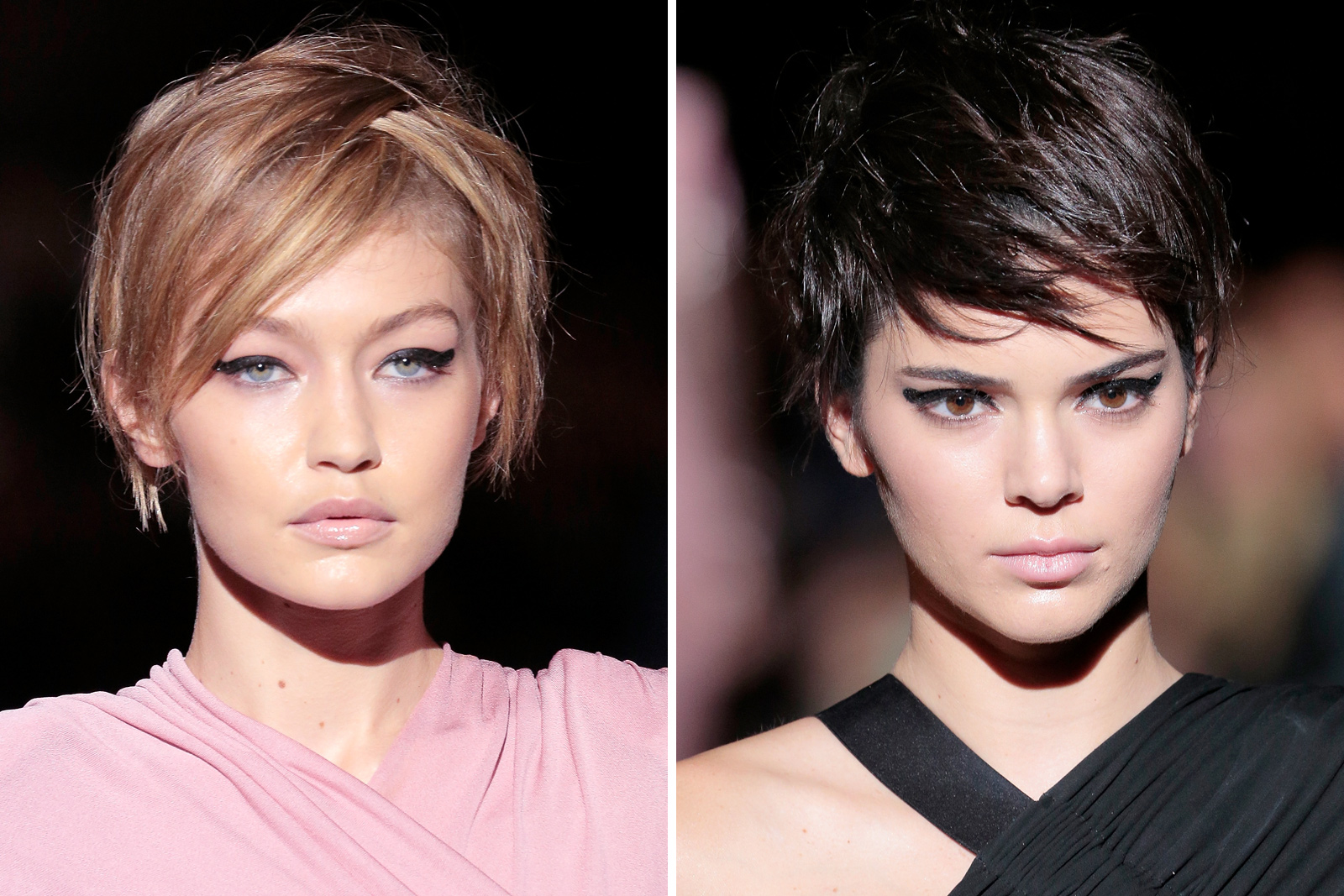 Kendall Jenner and Gigi Hadid Test Drive the Pixie at Tom Ford's NYFW Show