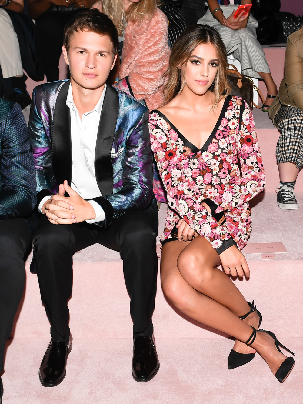Ansel Elgort and Sistine Stallone