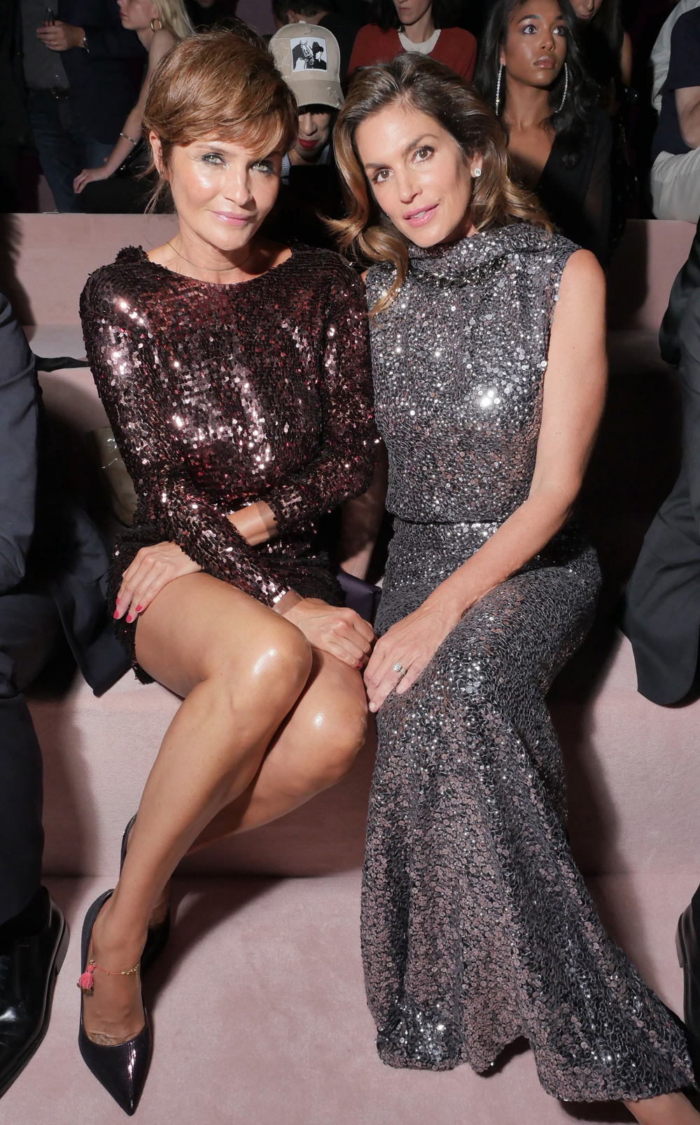 Helena Christensen and Cindy Crawford