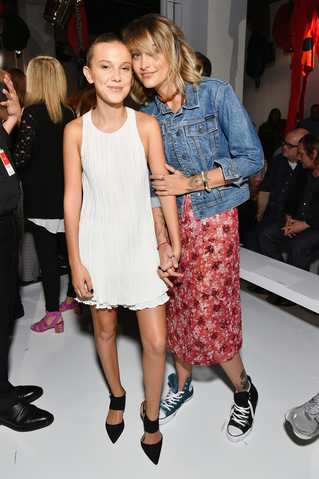 <p>Millie Bobby Brown and Paris Jackson</p>