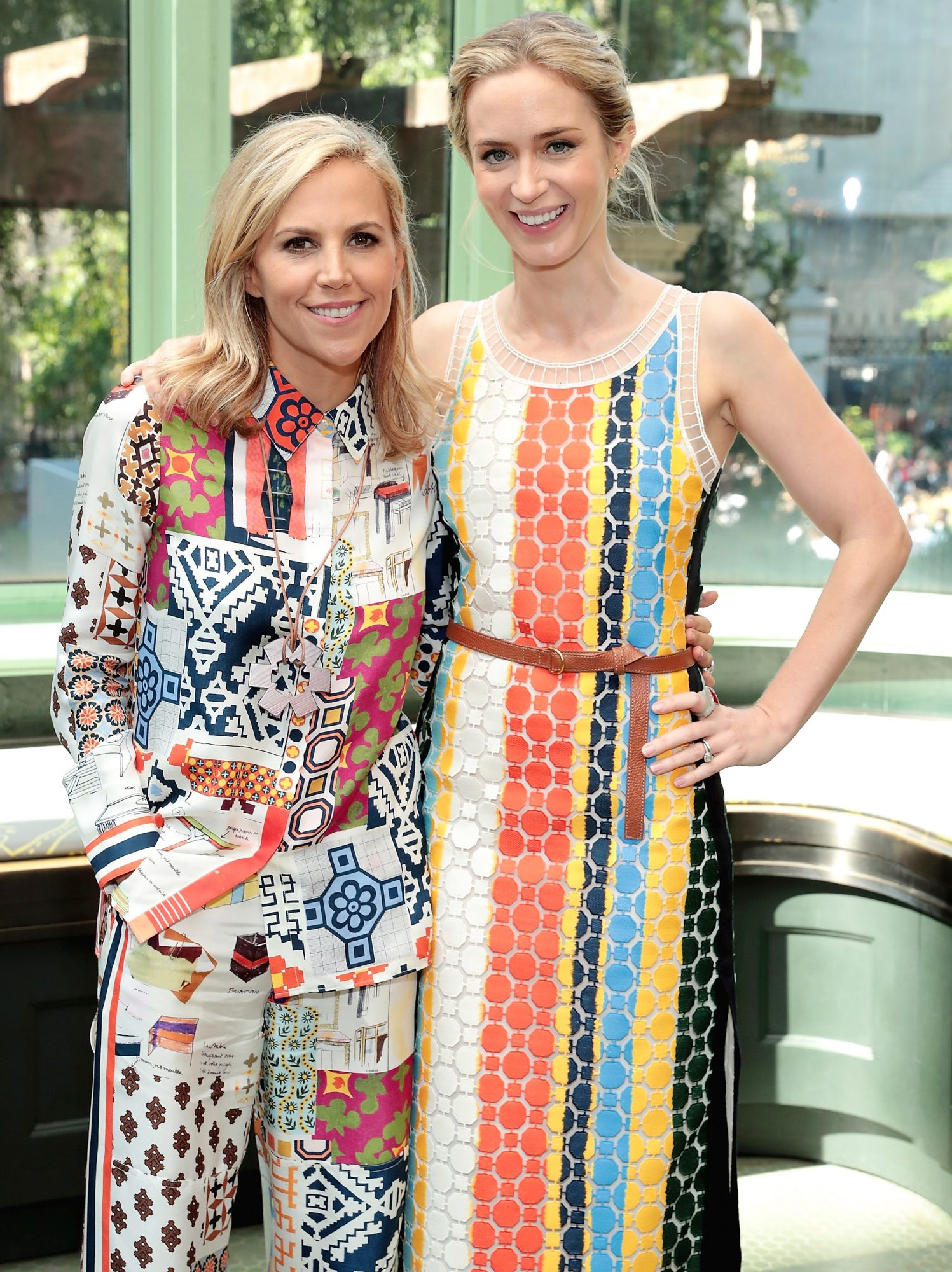 Tory Burch and Emily Blunt