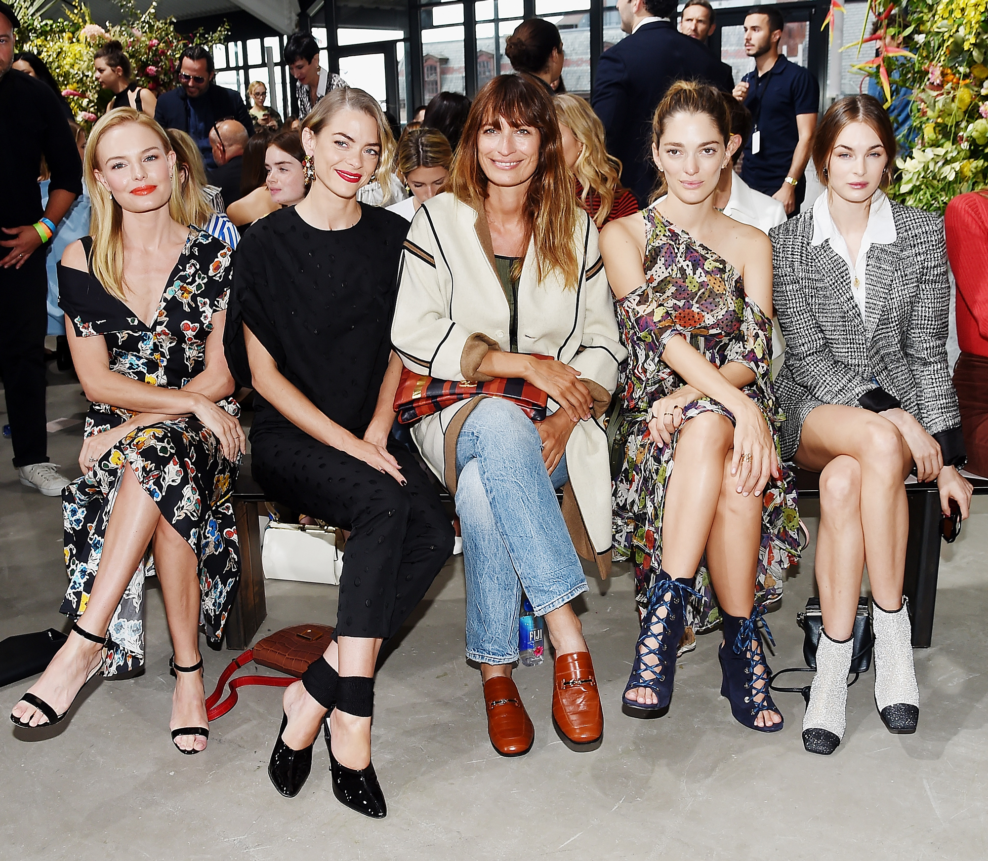 <p>Kate Bosworth, Jaime King, Caroline de Maigret, Sofía Sanchez de Betak, and Laura Love</p>