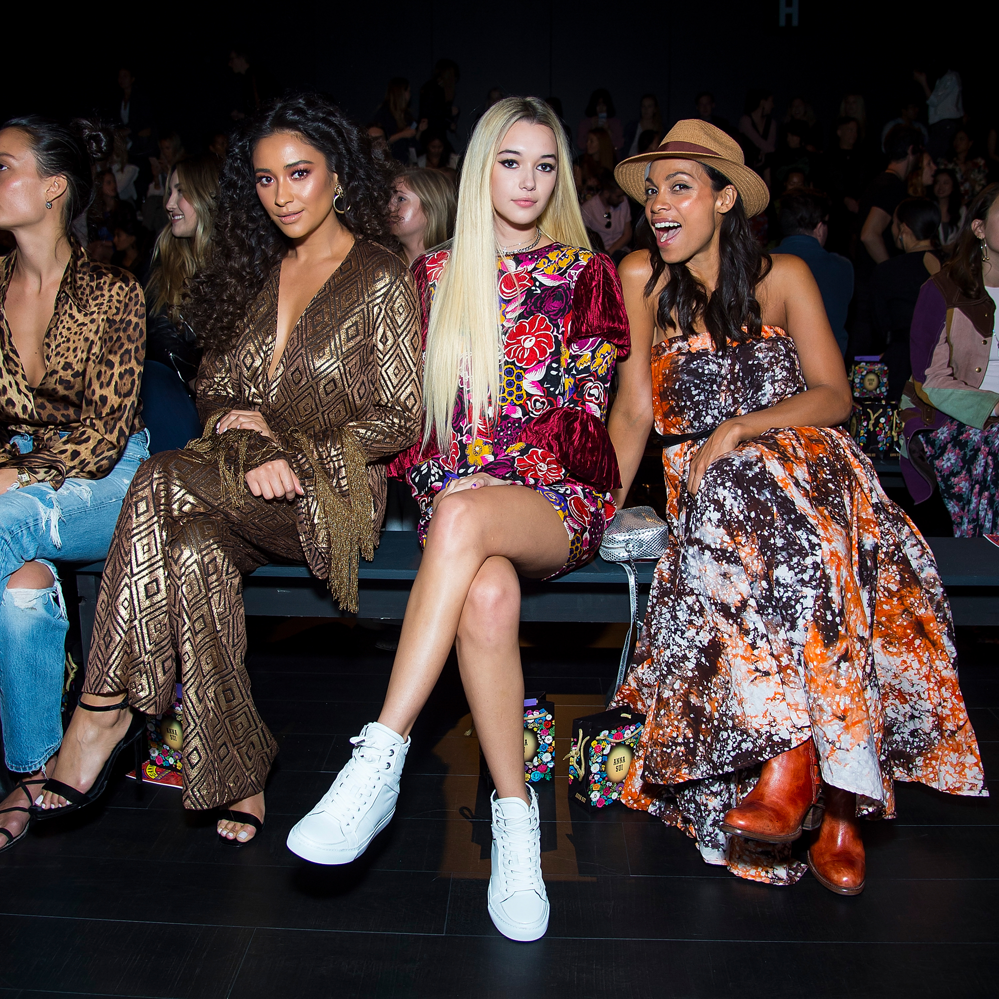 <p>Shay Mitchell, Sarah Snyder and Rosario Dawson</p>