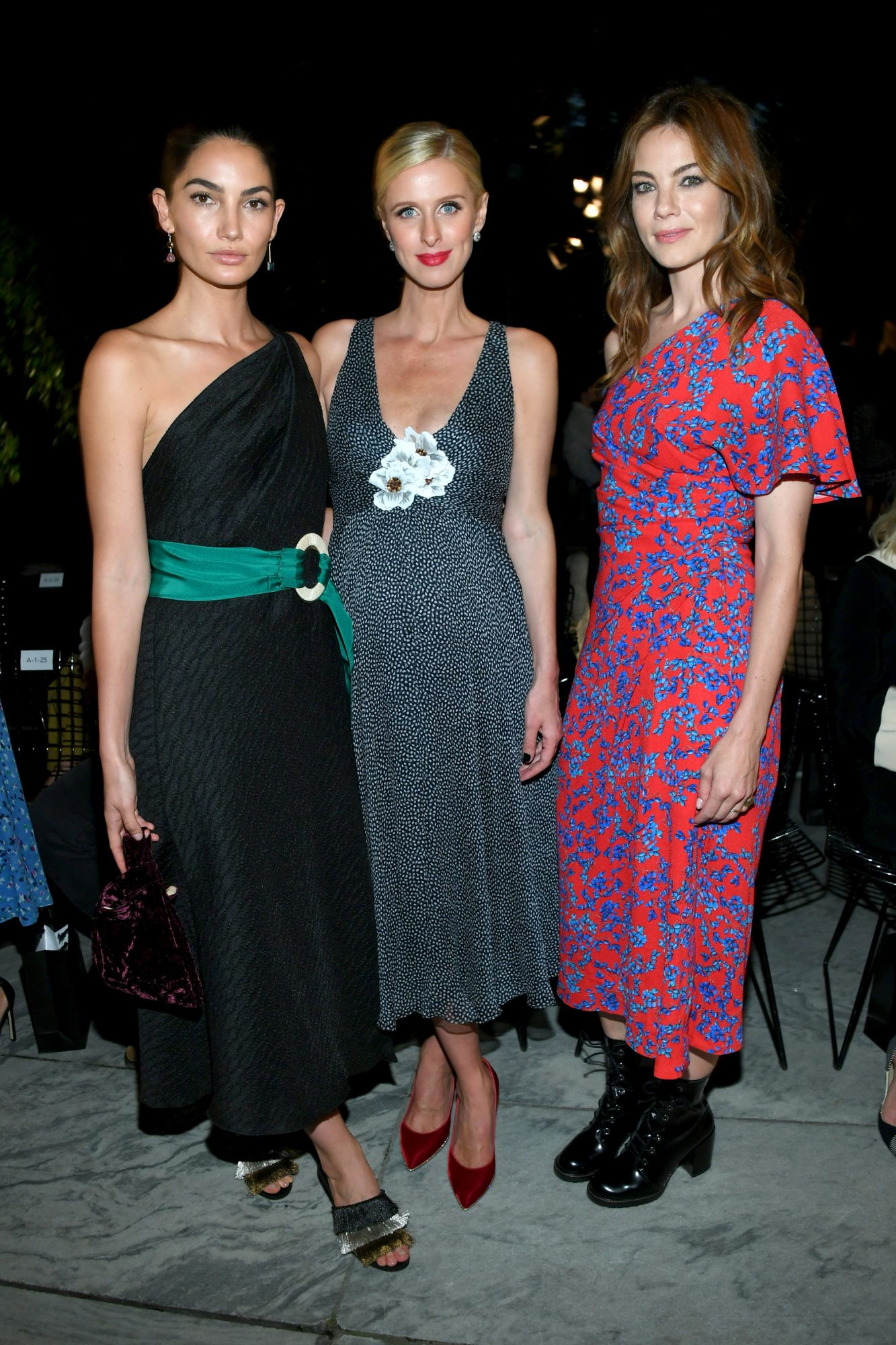 <p>Lily Aldridge, Nicky Hilton Rothschild and Michelle Monaghan</p>