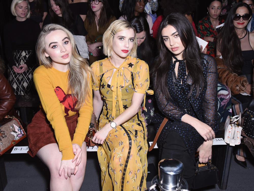 <p>Sabrina Carpenter, Emma Roberts, and Charli XCX</p>