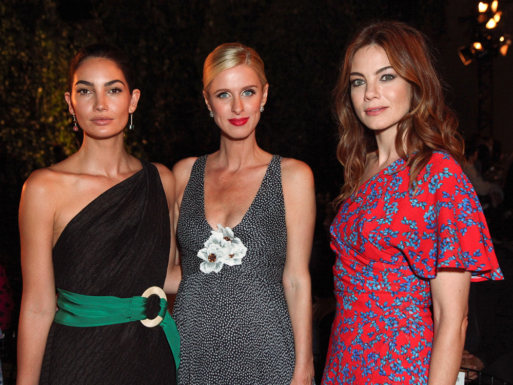 Lily Aldridge, Nicky Hilton Rothschild, and Michelle Monaghan