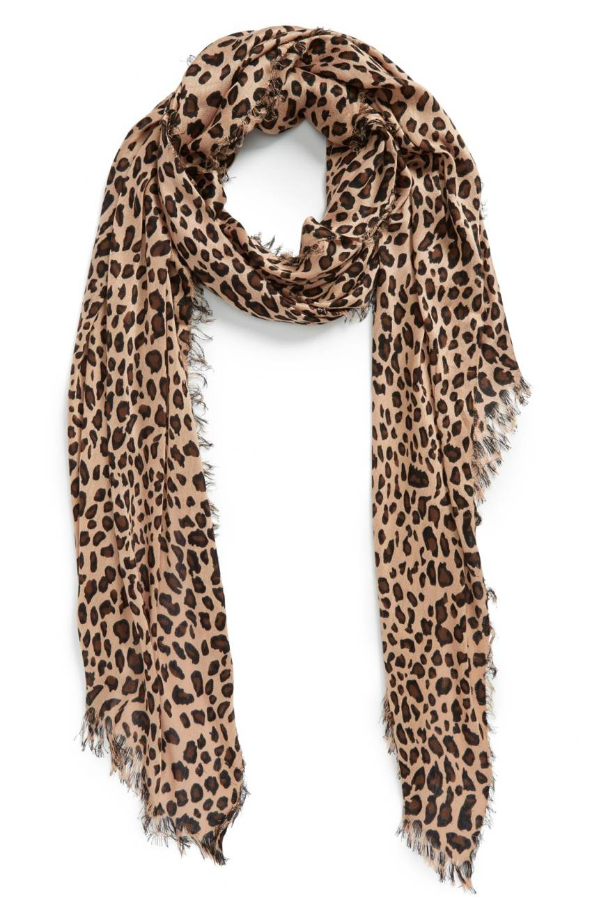 Sole Society Leopard Print Scarf