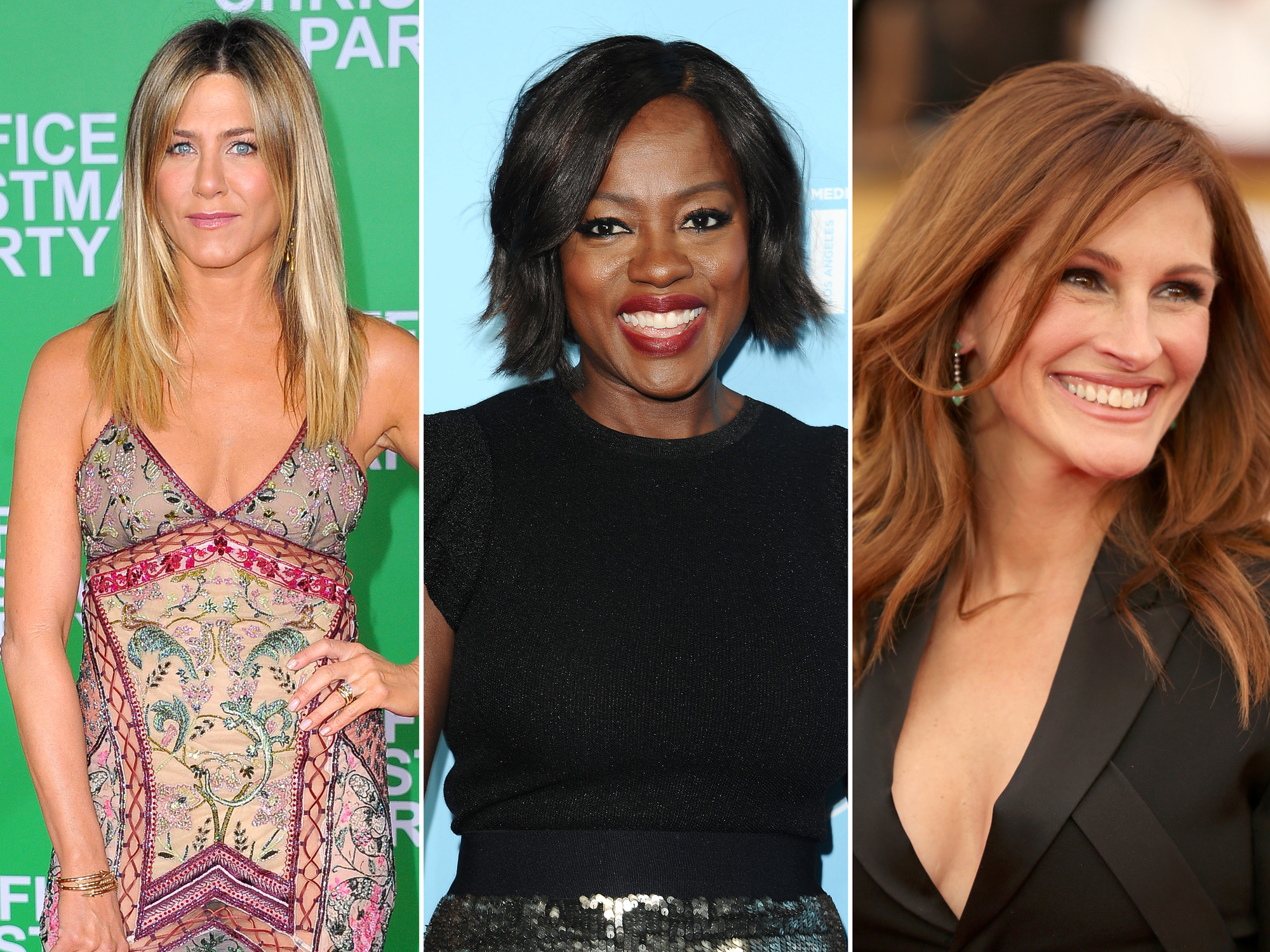 <p>Julia Roberts, Viola Davis and Jennifer Aniston - Embed</p>