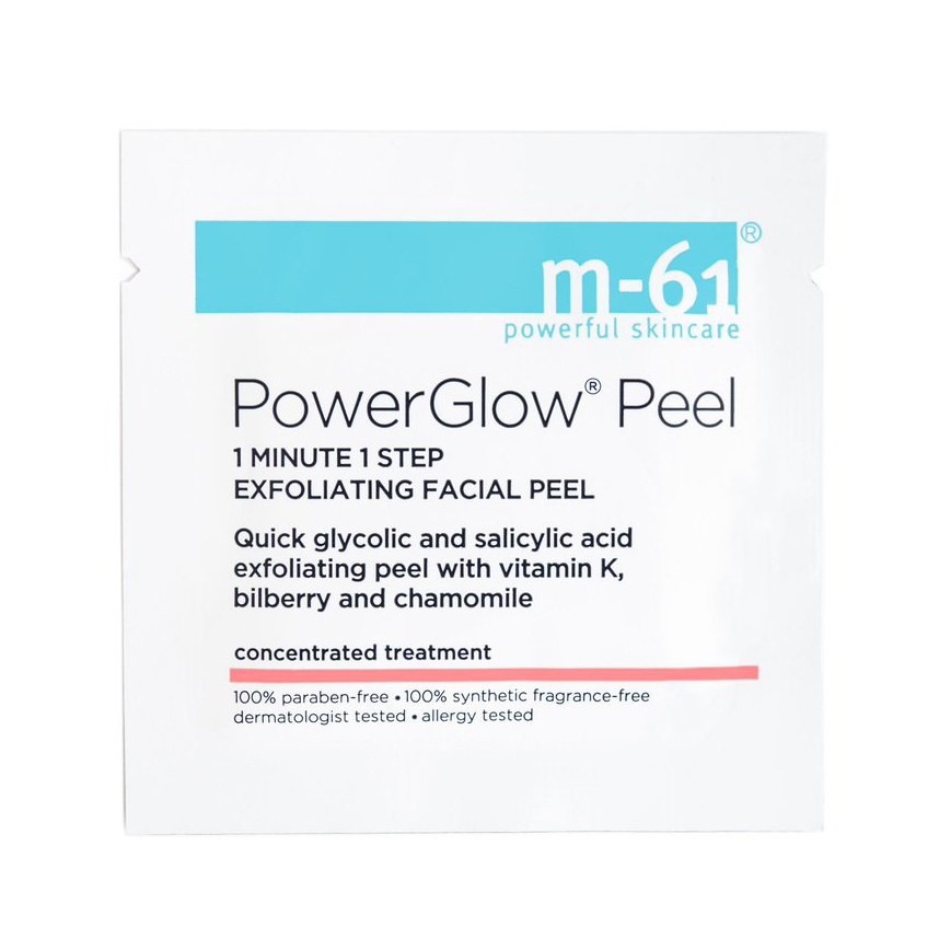 <p>M-61 powerglow peel</p>