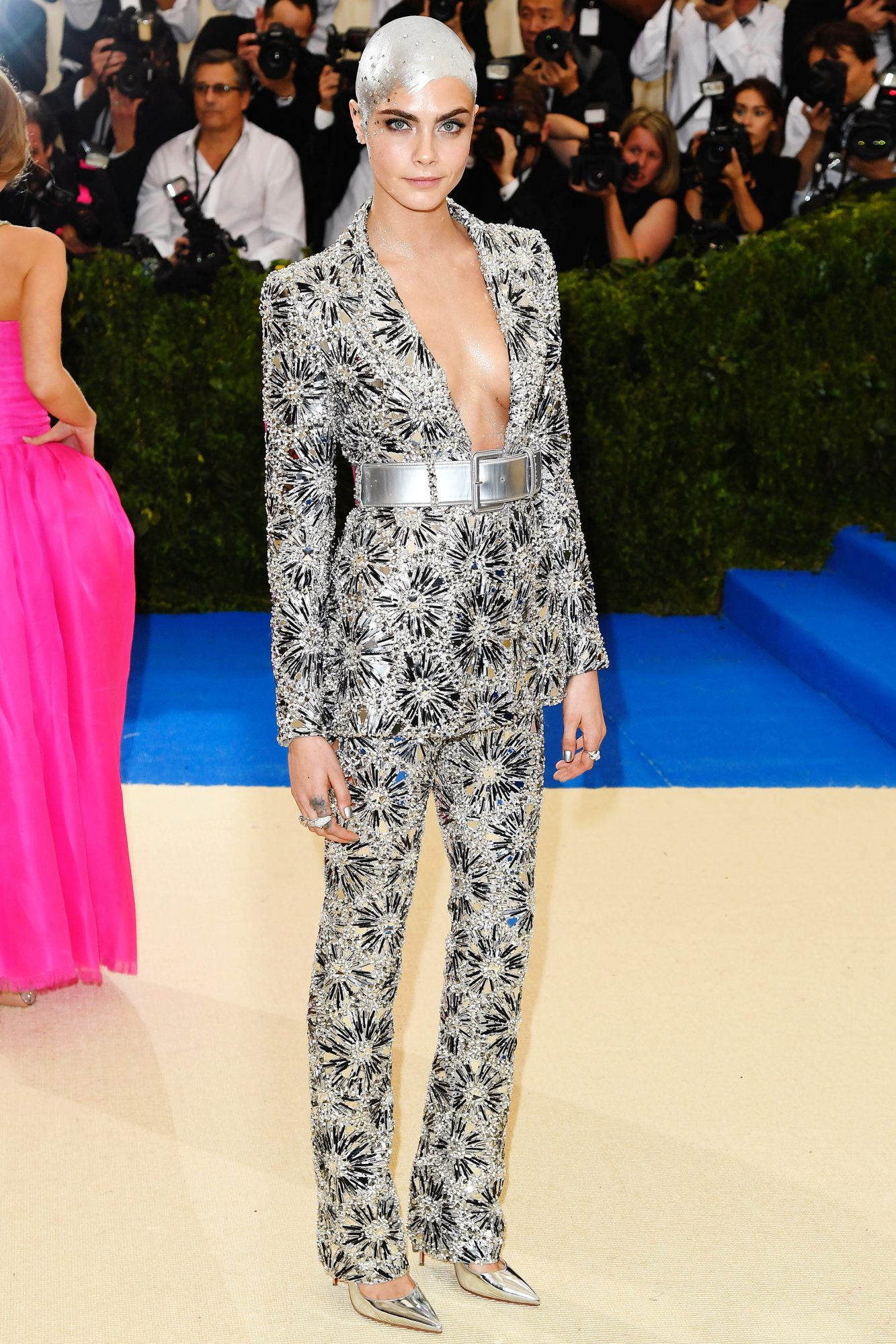 Cara Delevingne's Head-to-Toe Shine