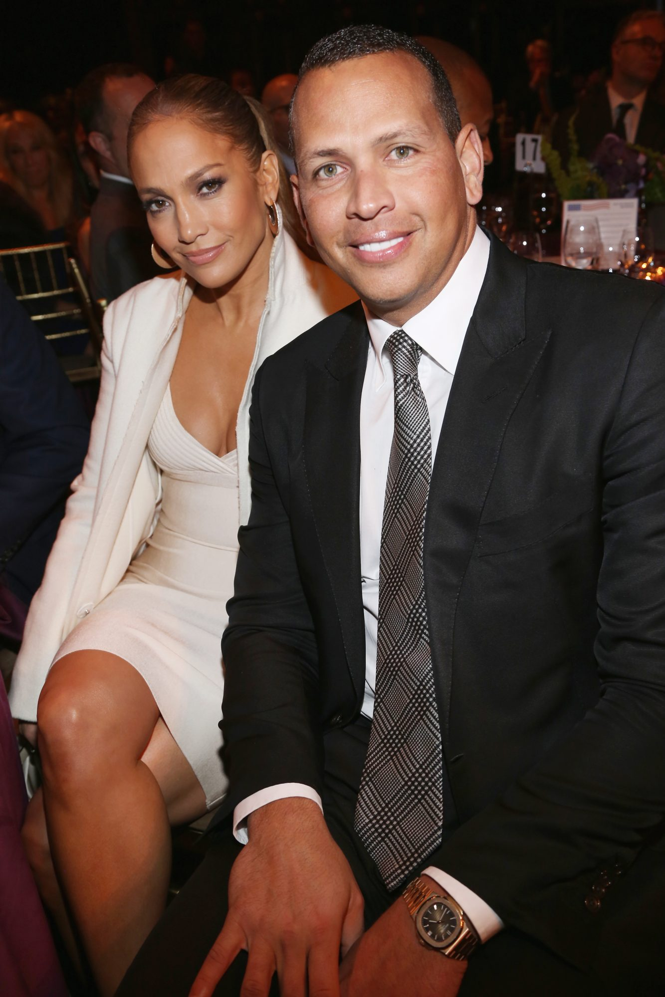 Jennifer Lopez and Alex Rodriguez Cuddle Up on Charitable Date Night