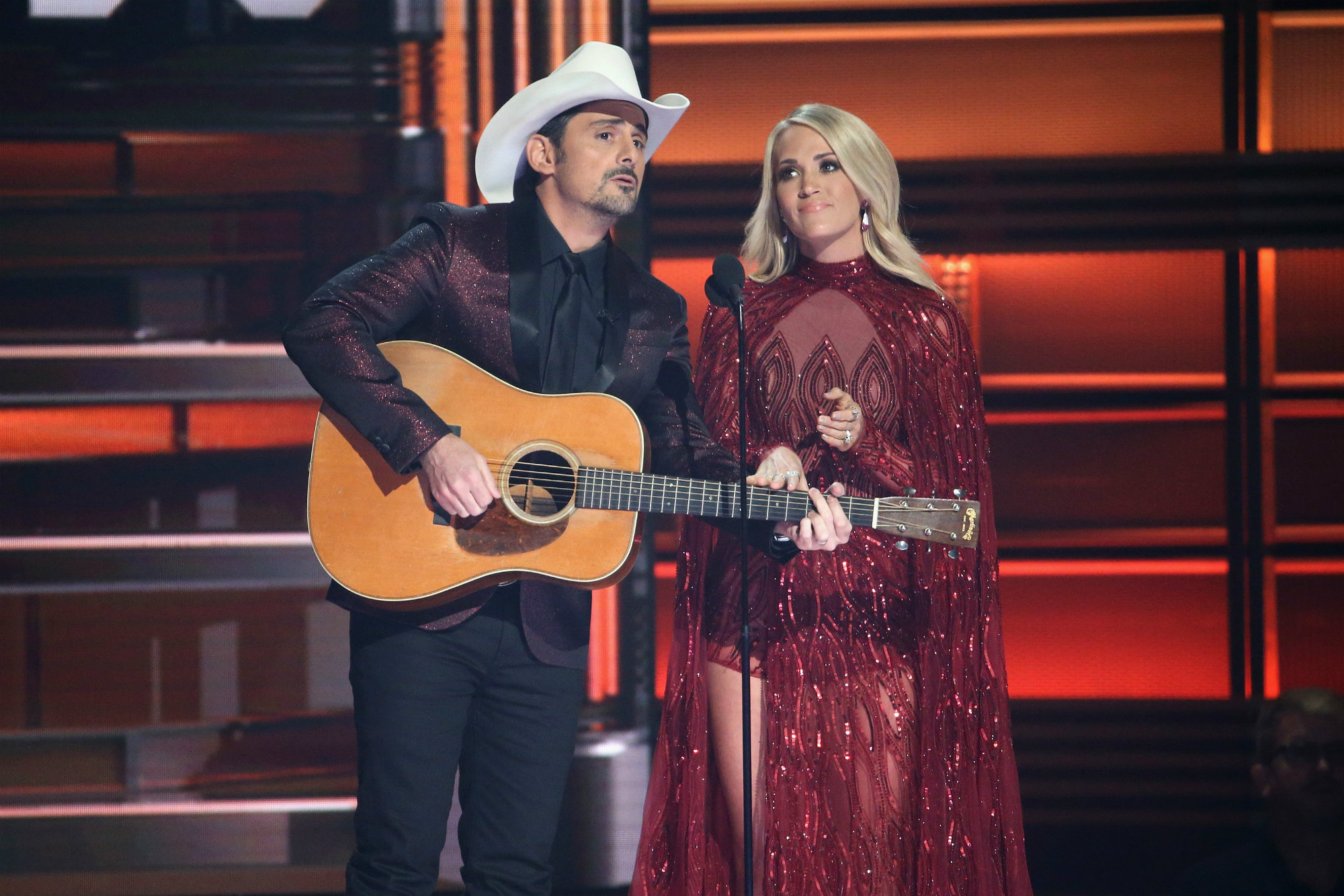 <p>Brad Paisley and Carrie Underwood Best Moments LEAD</p>