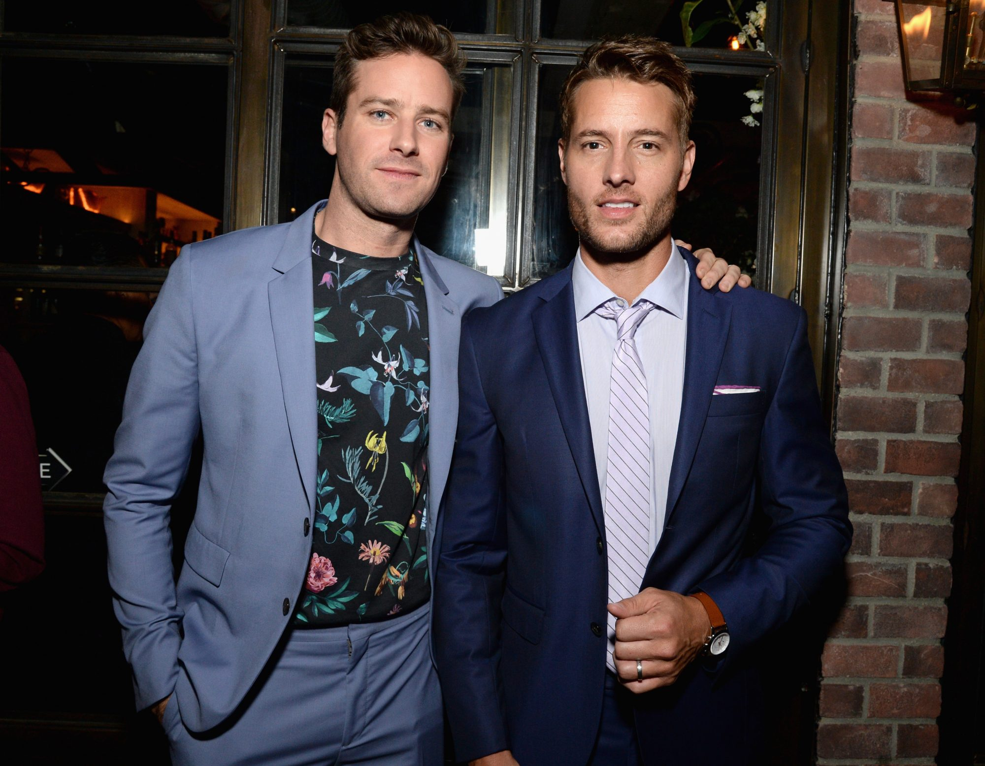 <p>Armie Hammer and Justin Hartley</p>