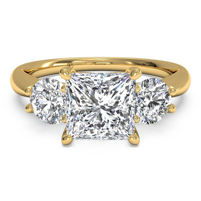Ritani Yellow Gold Princee-Cut Engagement Ring