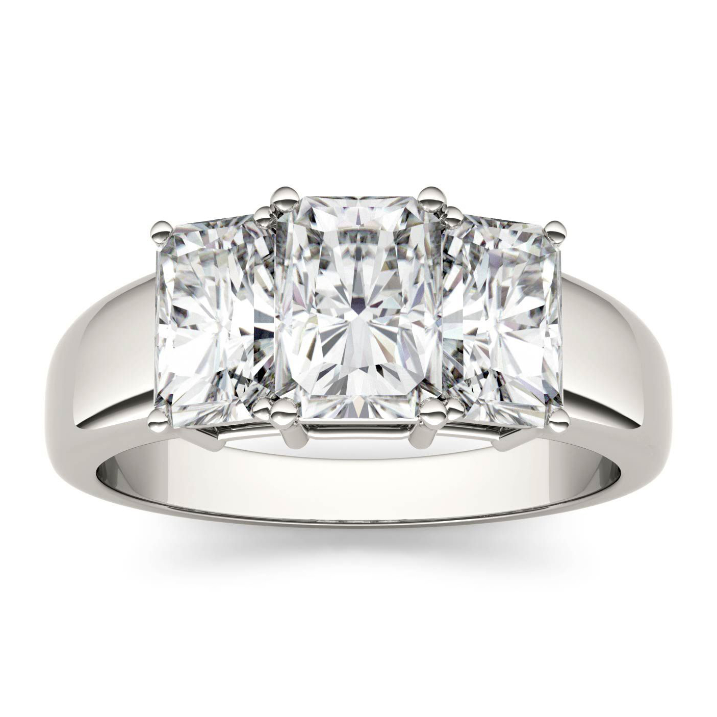 Charles & Colvard Forever One Moissanite Engagement Ring in 14K White Gold
