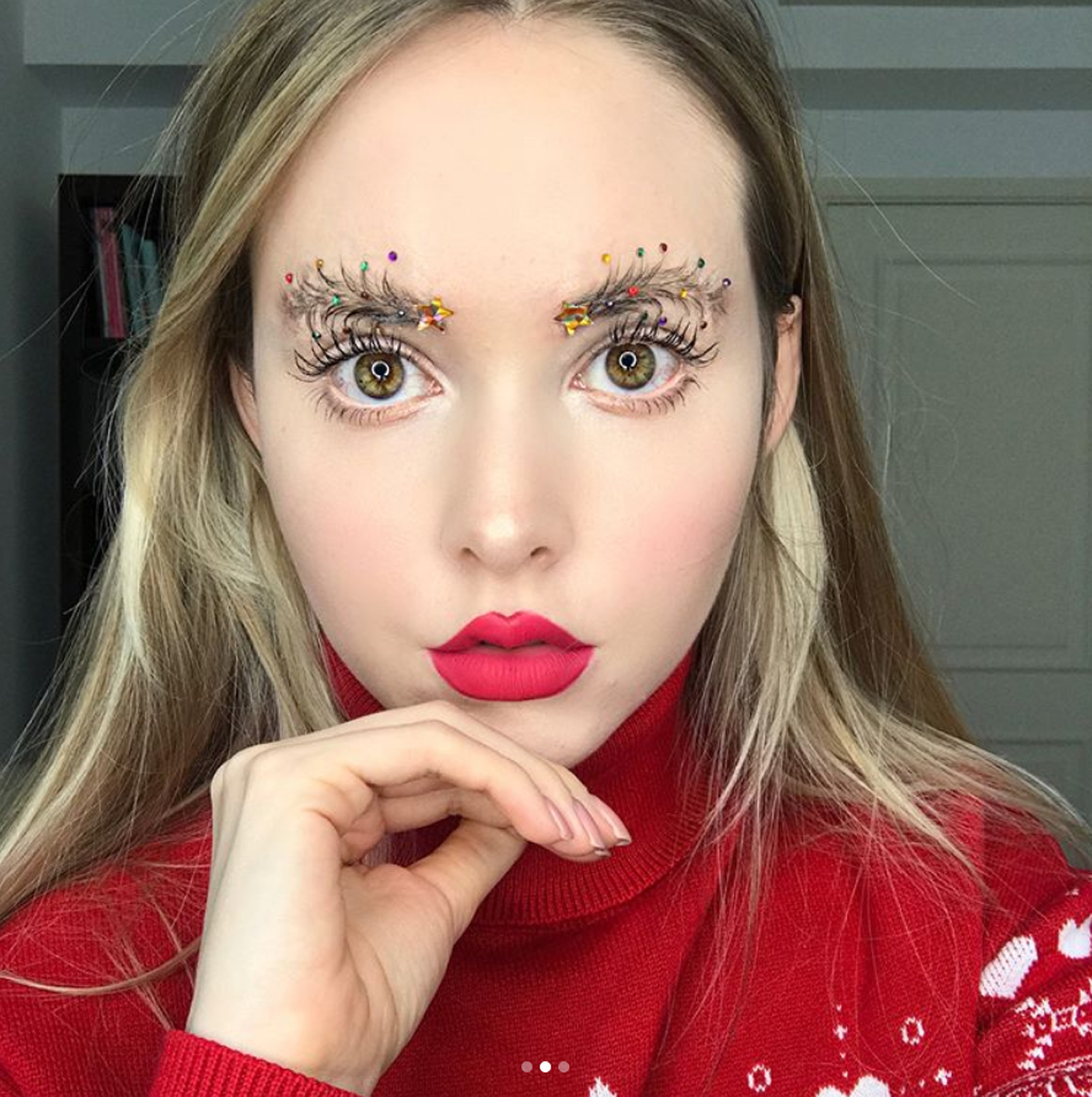 """""""Christmas Tree Brows"""" Are the Latest Brow Trend, and We Don't Know How to Feel"""