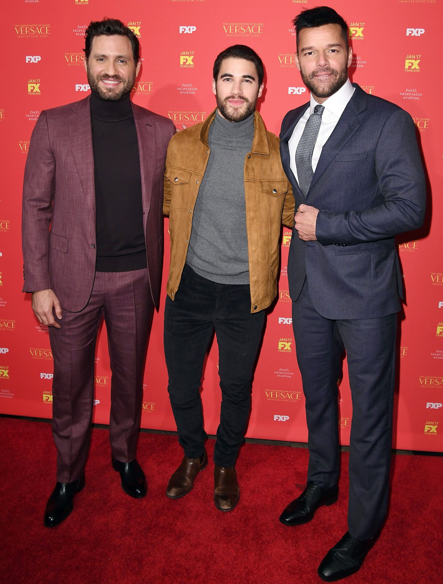 Edgar Ramirez, Darren Criss, and Ricky Martin