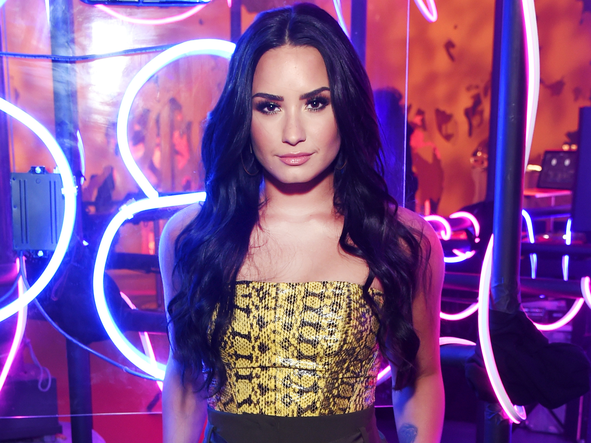 Demi Lovato Heats Up Winter in a Plunging Retro Swimsuit