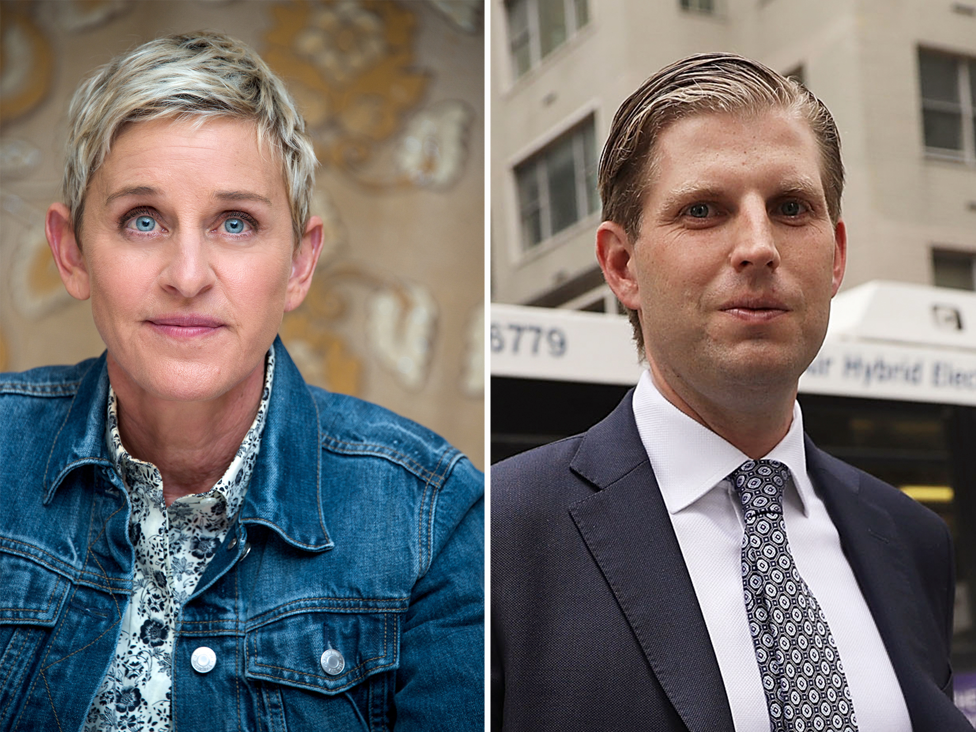 Ellen Degeneres and Eric Trump