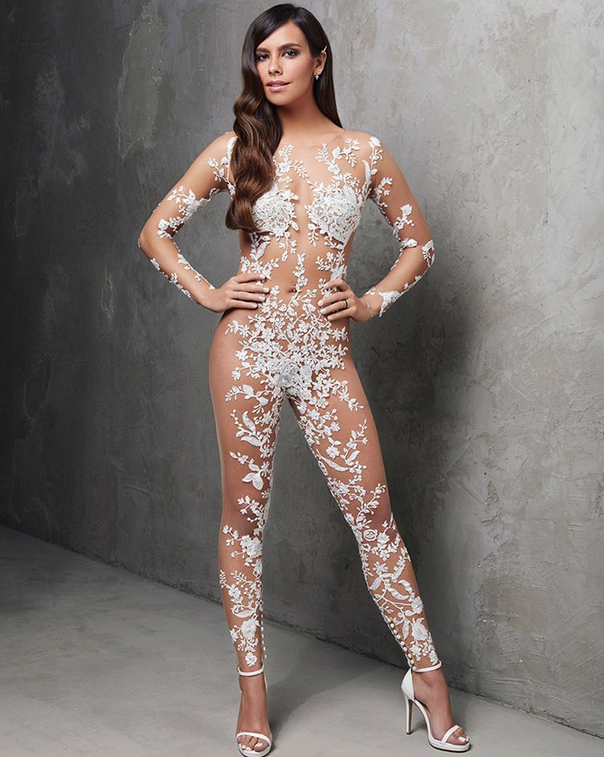 This Naked Wedding Jumpsuit Is Perfect for the J.Lo-Obsessed Bride