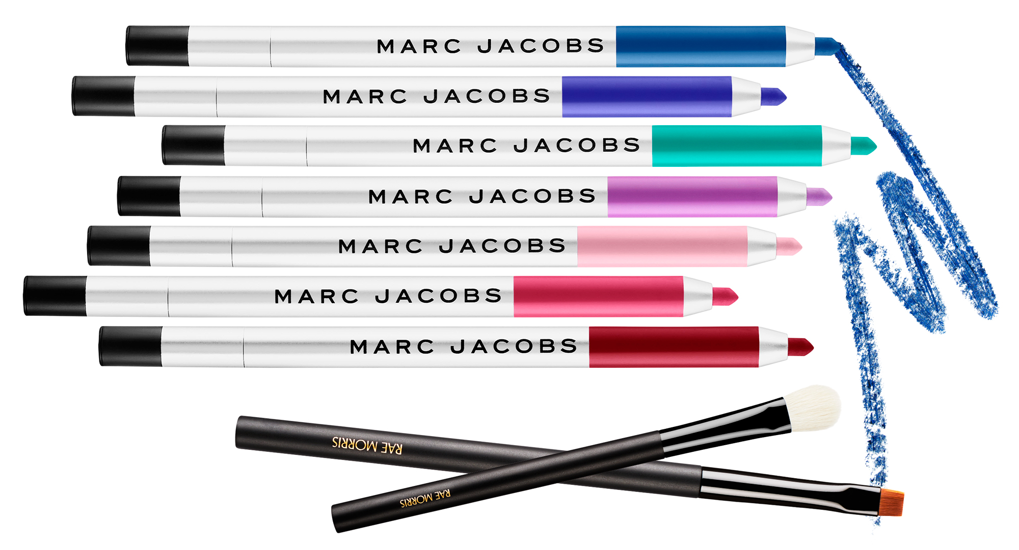 Marc Jacobs Beauty Highliner Matte Gel Eye Crayon Eyeliner & Rae Morris Brushes