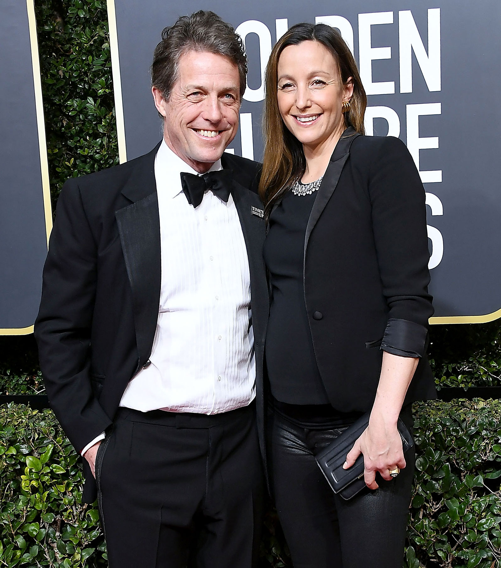 <p>Hugh Grant and Anna Eberstein</p>