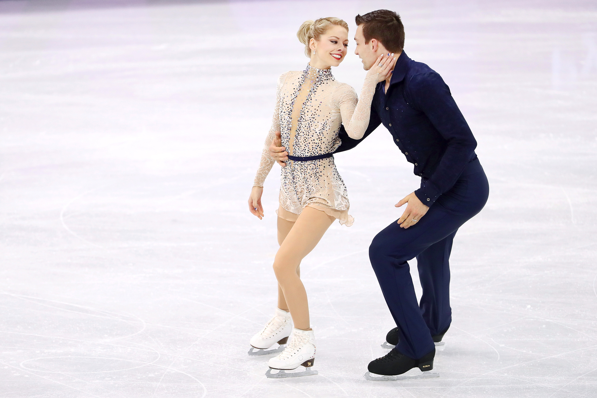 This Married Couple's Valentine's Day Plans Included Skating at the Olympics Together
