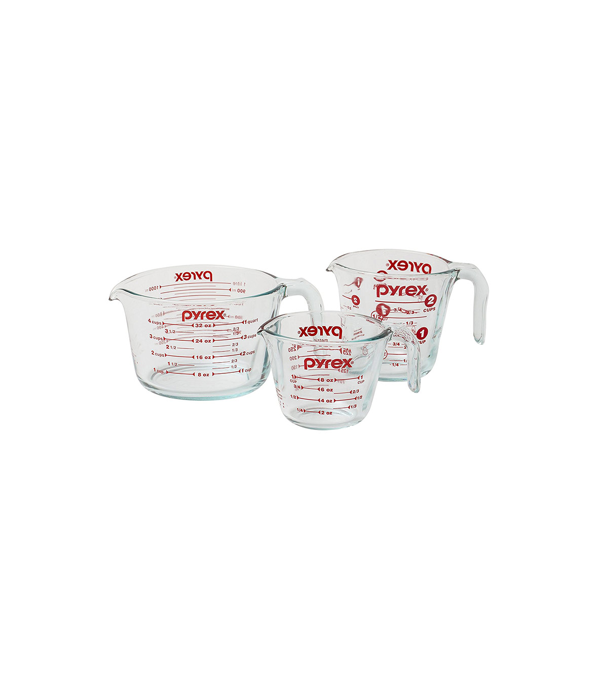 Pyrex 3-Piece Glass Measuring Cup Set