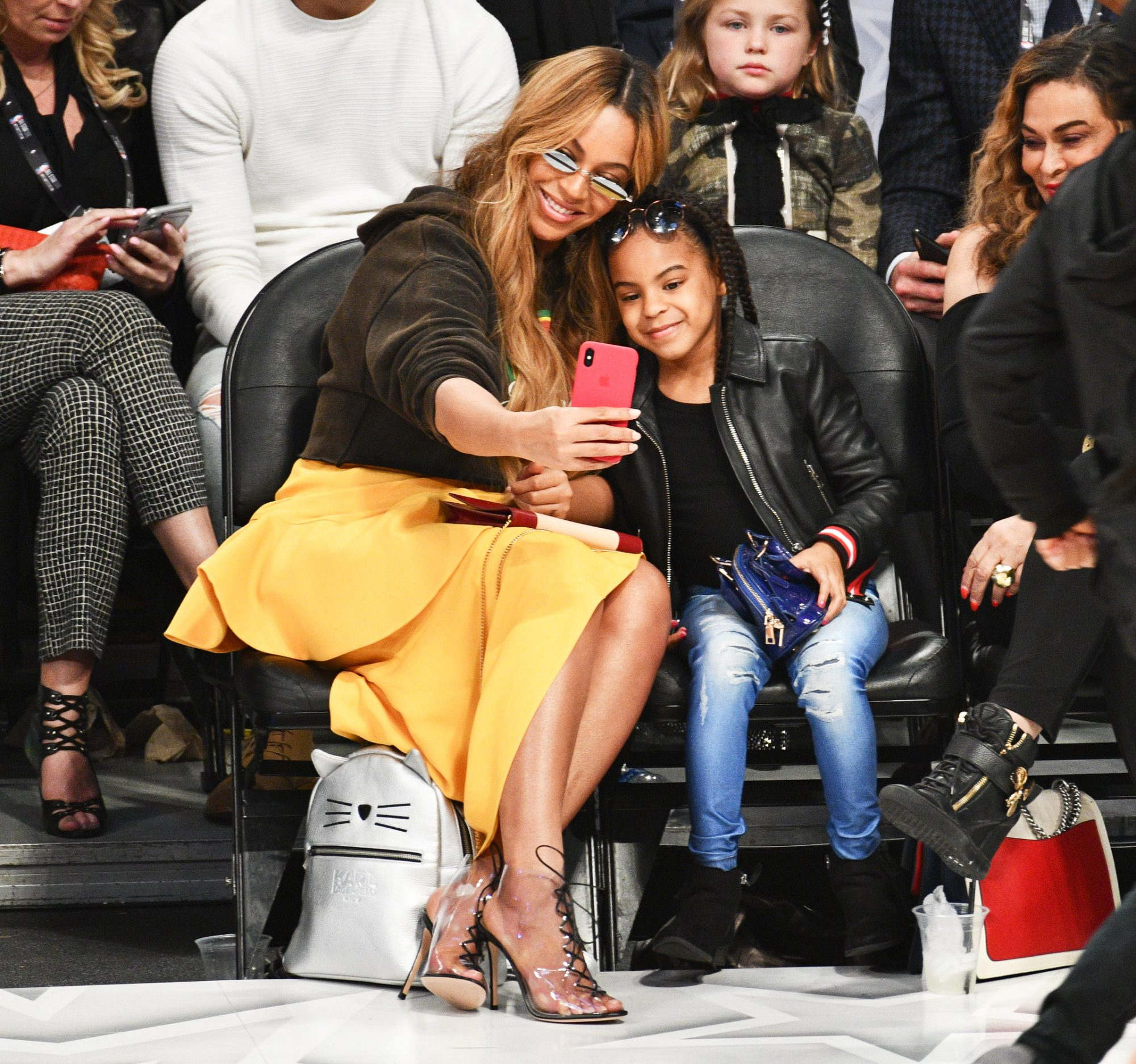 <p>Beyonce and Blue Ivy Carter</p>