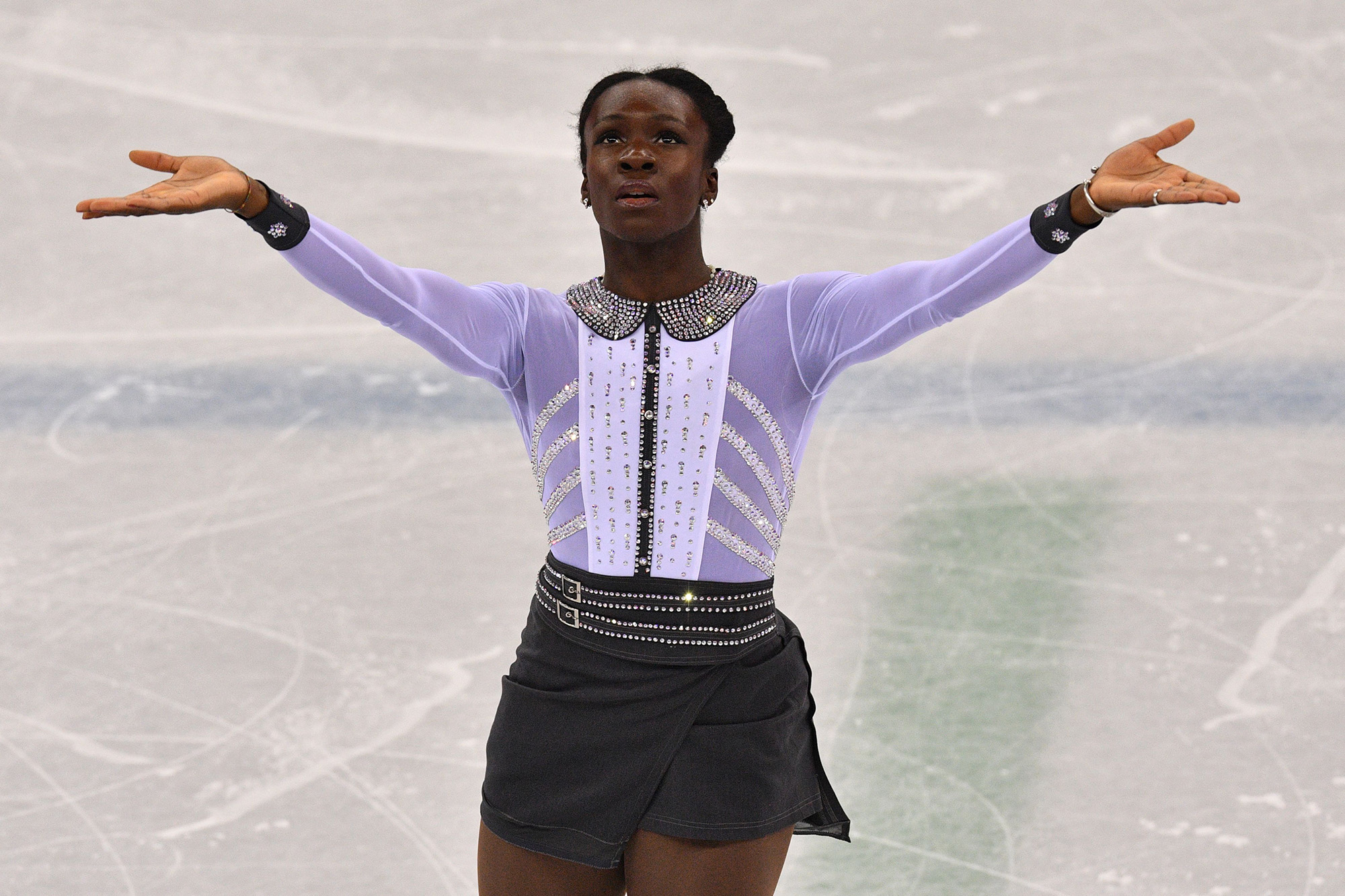 This French Figure Skater Made a Surprising Costume Change Midway Through Her Olympic Performance