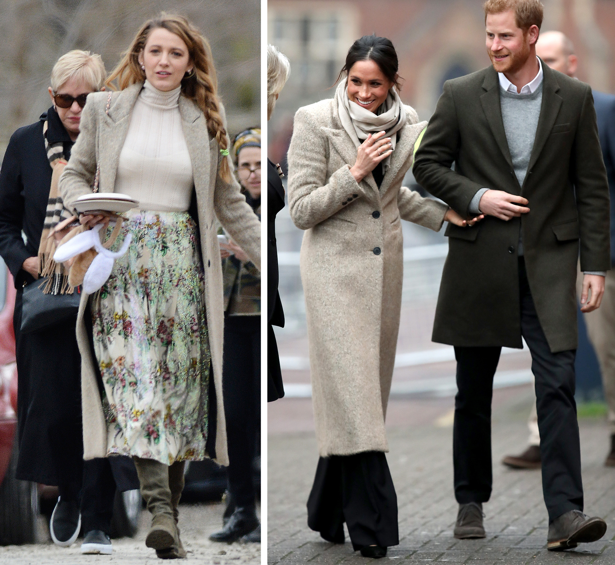 <p>Blake Lively and Meghan Markle</p>
