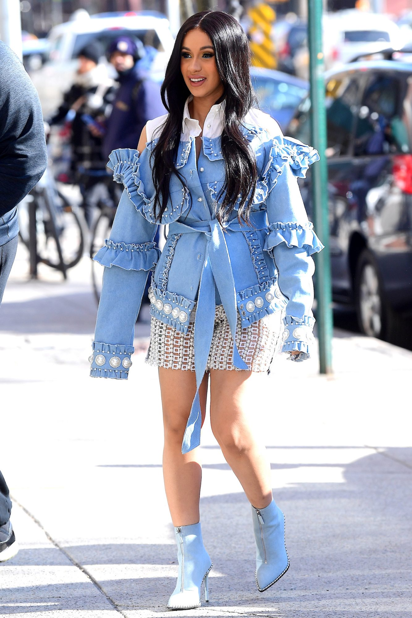 Pregnant Cardi B's Maternity Style Now Includes See-Through Pearl Shorts