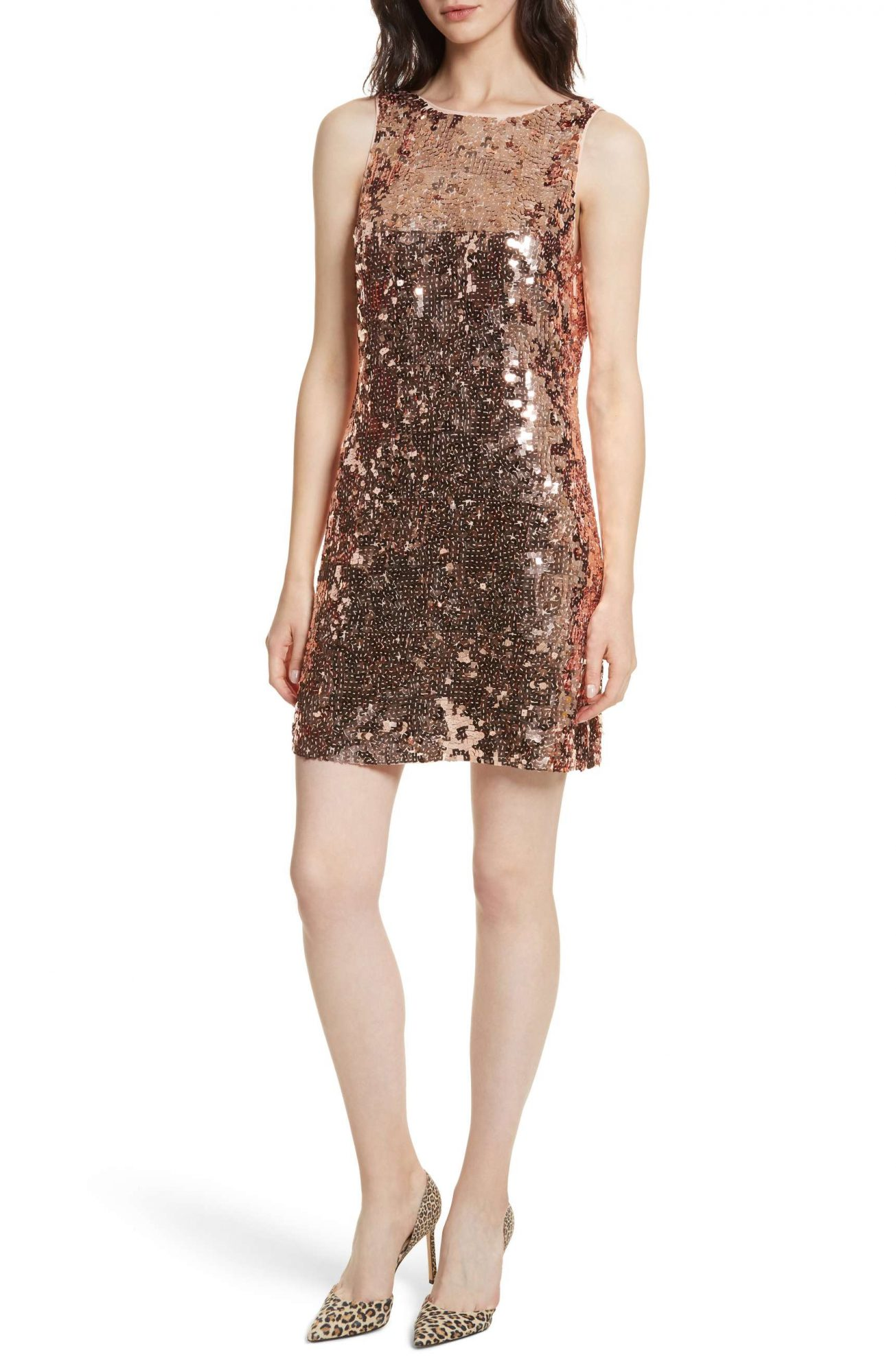 <p>Sequin Bow Mini Dress</p>