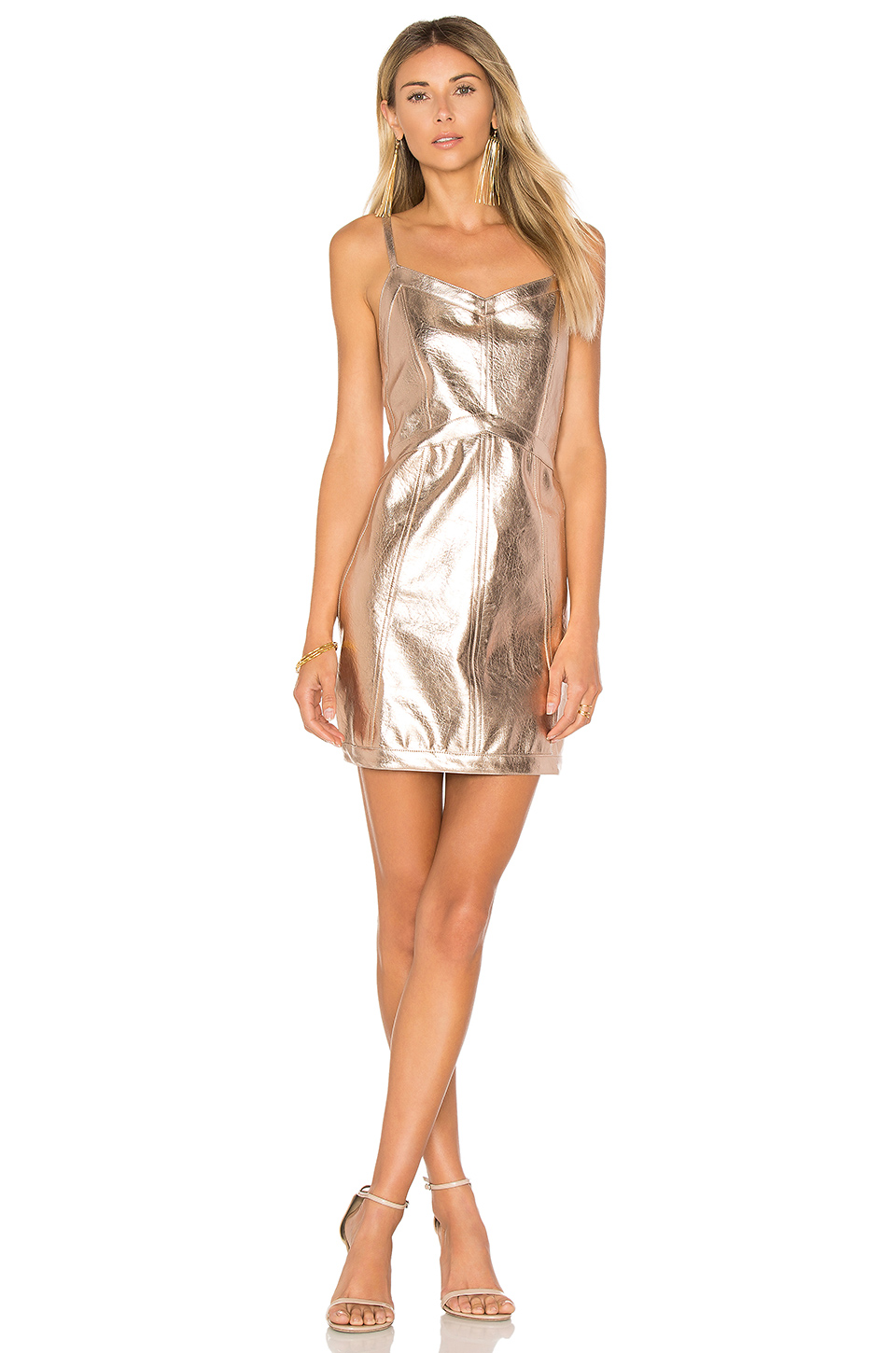 <p>Luna Metallic Dress</p>