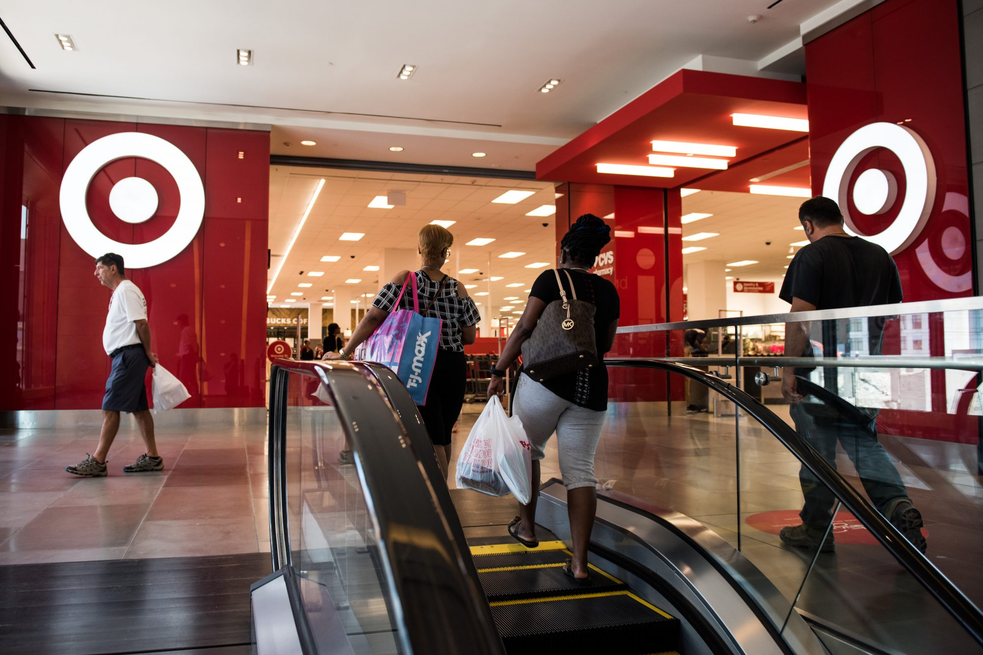 Shoppers Inside City Point And Dekalb Market Hall Ahead Of Consumer Comfort