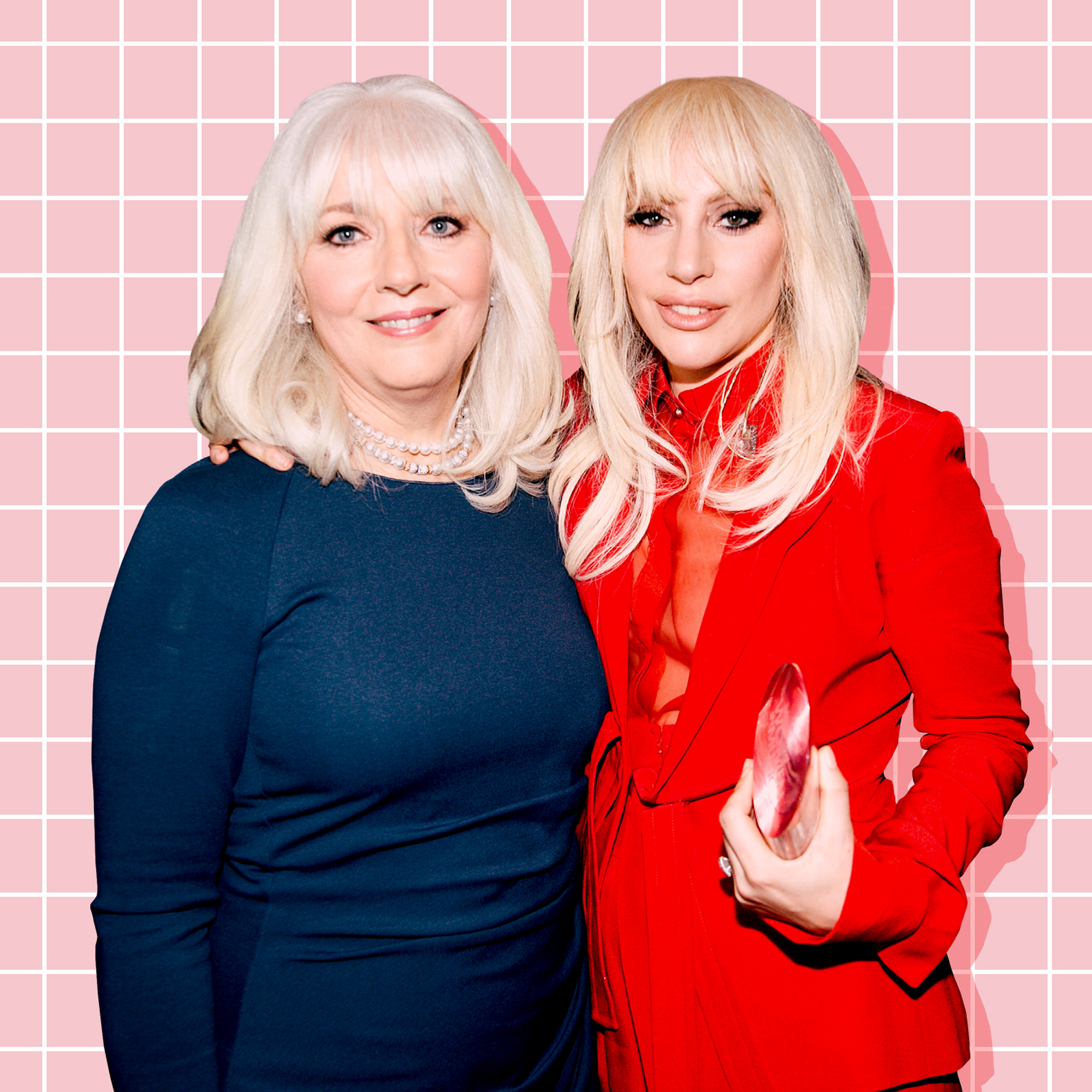 <p>Lady Gaga and mother</p>