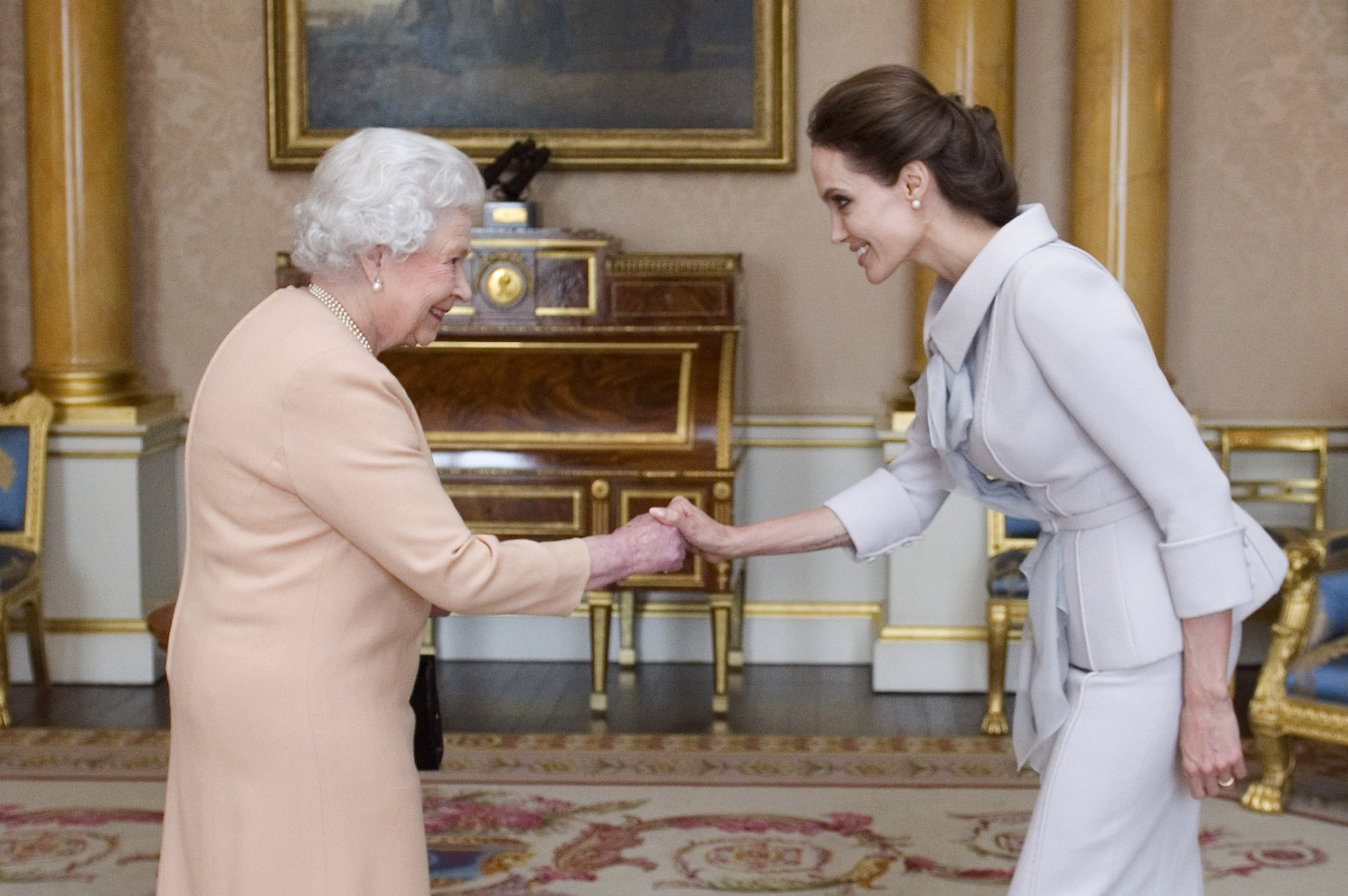 Angelina Jolie and Queen Elizabeth embed