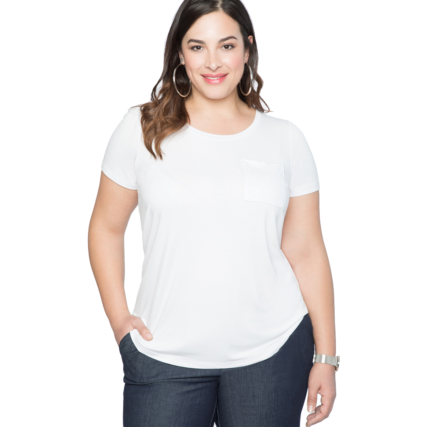 356741219c23 The Best Plus-Size White T-Shirts | InStyle.com