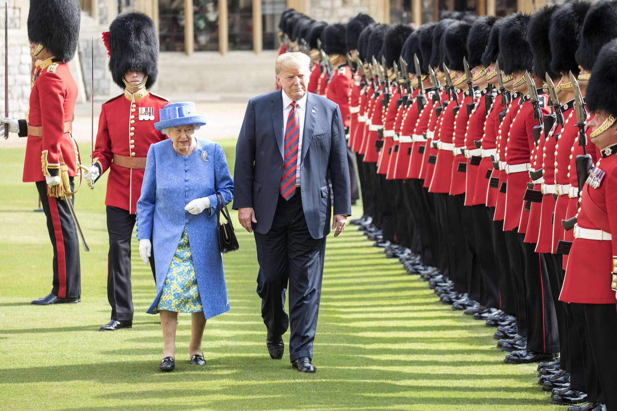Here's Why Fans Are Convinced Queen Elizabeth Shaded Donald Trump with Her Fashion